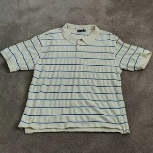 Canary yellow striped golf shirt by Head